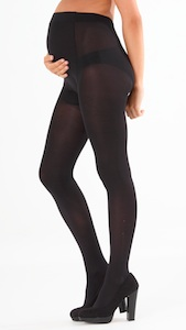 Black Maternity Tights