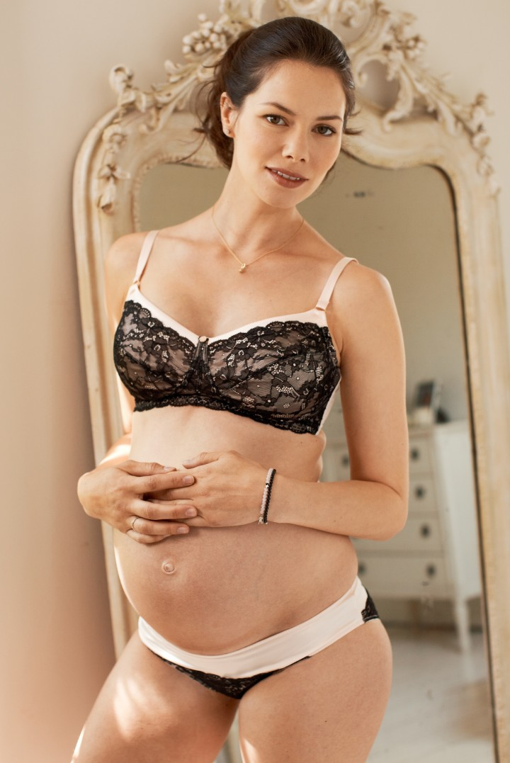 Black and Blush Maternity Bra