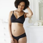 Simple Black Maternity Bra