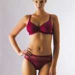 NURSING BRA: Deep Red Padded Nursing Bra